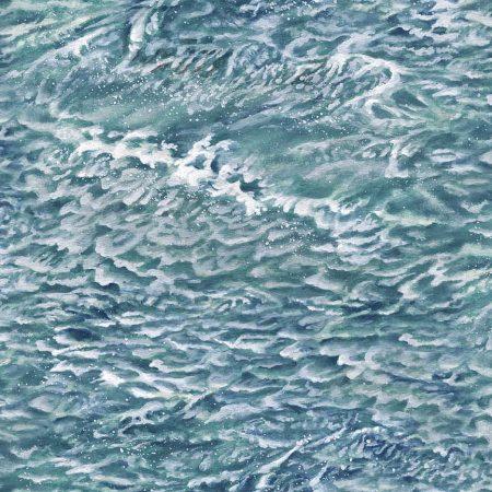 Quiltstof katoen Landschap water met golven 21391-42. Merk: Northcott