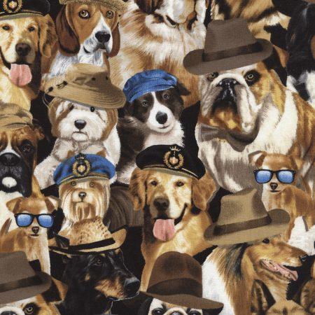 Quiltstof katoen Honden 3951. Merk: Timeless Treasures. Serie: Honden