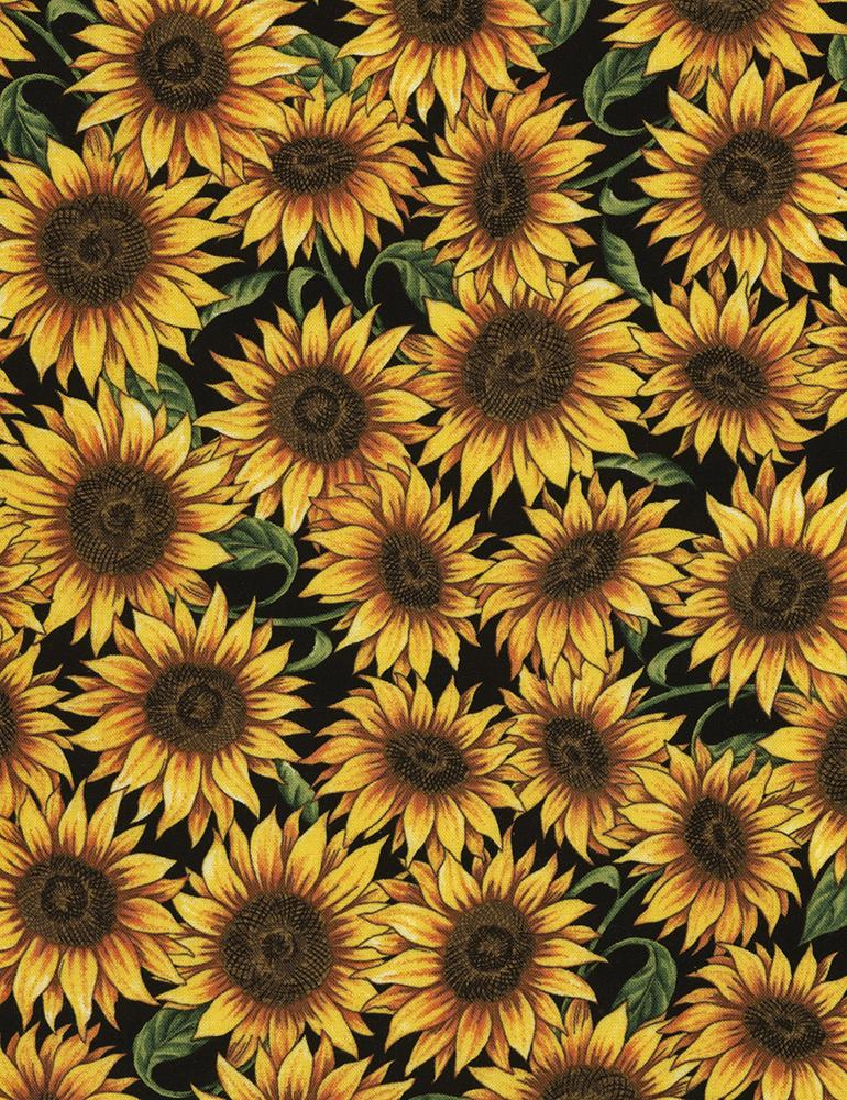 Quiltstof Katoen Zonnebloemen 5453 Borduren Naaien En Quilten