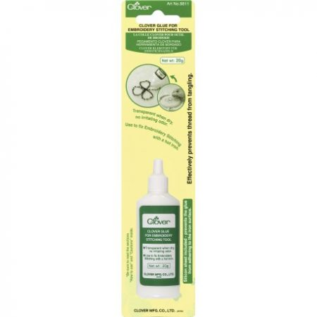 Lijm voor Embroidery Stitching Tool. Clover 8811. Transparante lijm