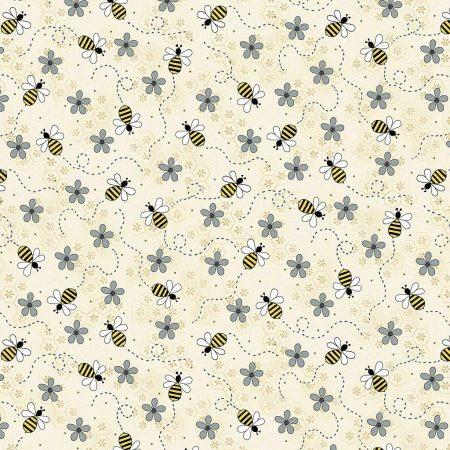 Quiltstof katoen All about the Bees. Verkoop per 25 cm