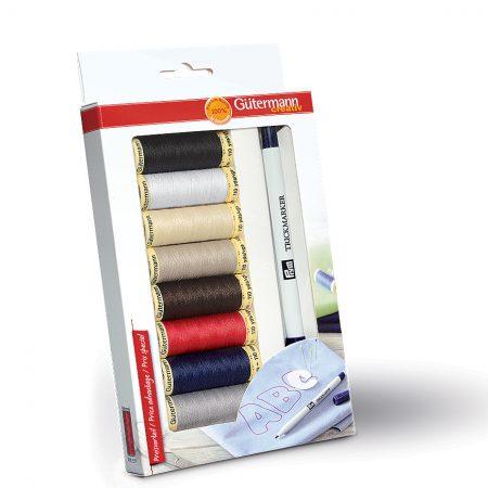 Gutermann naaimachinegaren cadeauverpakking met markeerstift
