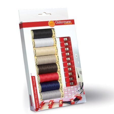 Gutermann naaimachinegaren cadeauverpakking met stofclips