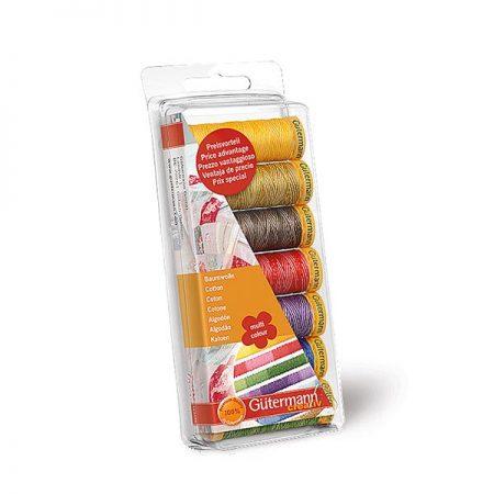Gutermann naaigaren katoen cadeauverpakking multi colour