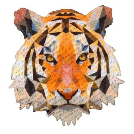 Strijkapplicatie tijger prisma 36017. Afmeting: 7 x 7,5 cm