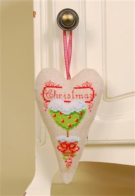 Vervaco Borduurpakket Aida decohartje kerst PN-0145783