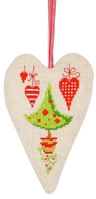Vervaco Borduurpakket Aida decohartje kerst PN-0145784