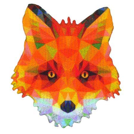 Strijkapplicatie vos prisma 36015. Afmeting: 6 x 7 cm