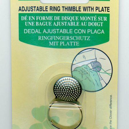 Clover 611 Vingerhoed Sashiko ring verstelbaar. Voor steken lange naald