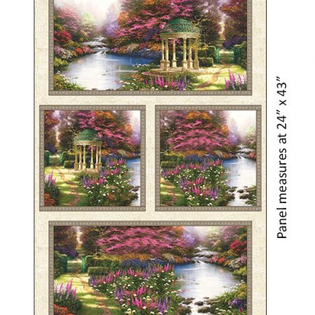 Quiltstof katoen panel The Garden Prayer 5455. Verkoop per panel.