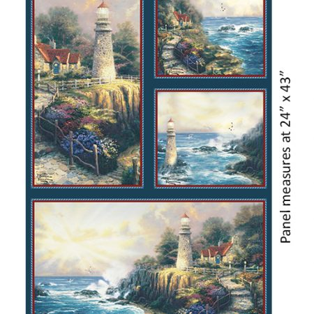 Quiltstof katoen panel The Light of Peace 5457. Verkoop per panel.