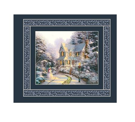 Quiltstof katoen panel The Night before Christmas 5453. Verkoop per panel