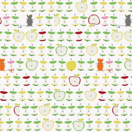 Quiltstof katoen Appels en muisjes 4500-274. Merk: Stoffabrics