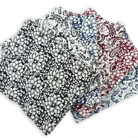 Fat quarter quiltstofpakket Louise. Merk: Visage Textiles Ltd.