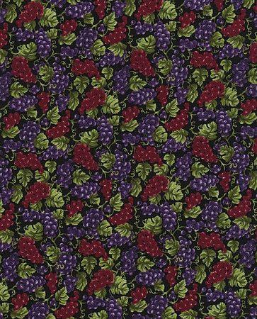 Quiltstof katoen Druiventrossen 120-3371. Merk: Paintbrush Studio
