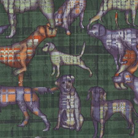 Quiltstof katoen Honden KC 035. Merk: Clothworks Fabrics
