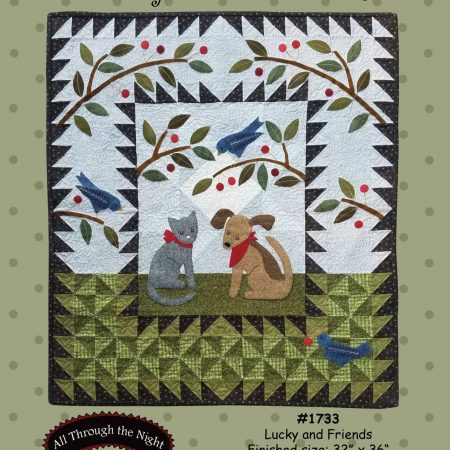 All Through the Night Quiltpatroon Lucky and Friends. Een applicatiequilt