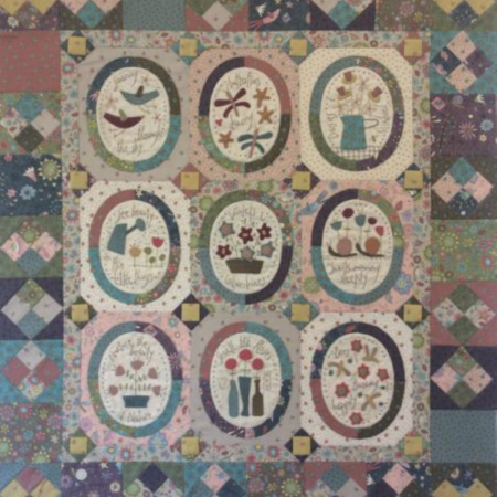 Hatched and Patched Anni Downs Quiltpatroon Miss Rosie's Garden