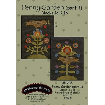 All Through the Night Quiltpatroon Penny Garden. Een applicatiequilt