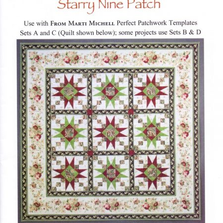 Quiltpatroon van Marti Michell. Quiltpatroon Starry Nine Patch 8285