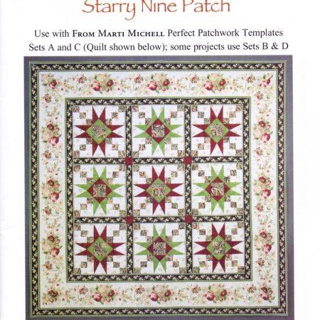 Quiltpatroon van Marti Michell. Quiltpatroon Starry Nine Patch 8285