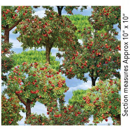 Quiltstof. Merk: Benartex. Serie: Apple Gala. Apple trees. Appelbomen