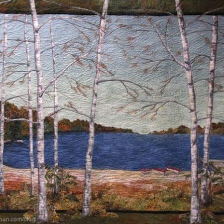 Bomen en grassen quiltstoffen