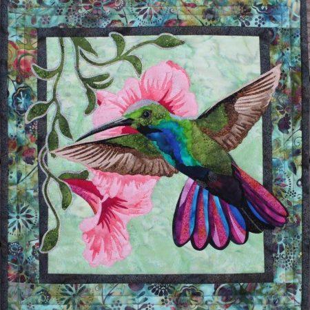 Vogels en vlinder quiltstoffen