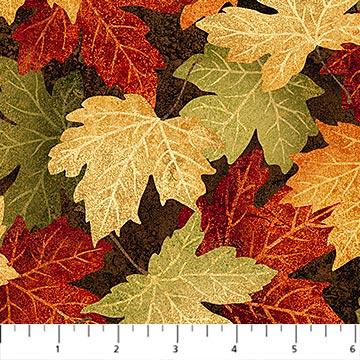 Quiltstof. Katoen. Northcott. Serie: Naturescapes. Herfstbladeren.
