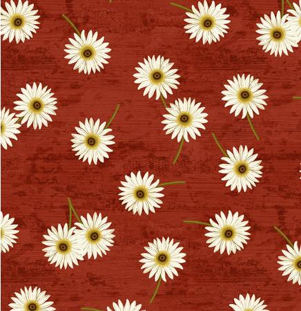 Quiltstof. Katoen. Wilmington Prints. Serie: Sunset Blooms. Margrietjes