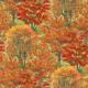 Quiltstof. Katoen. Wilmington Prints. Serie: Autumn Grove. Bomen herfst