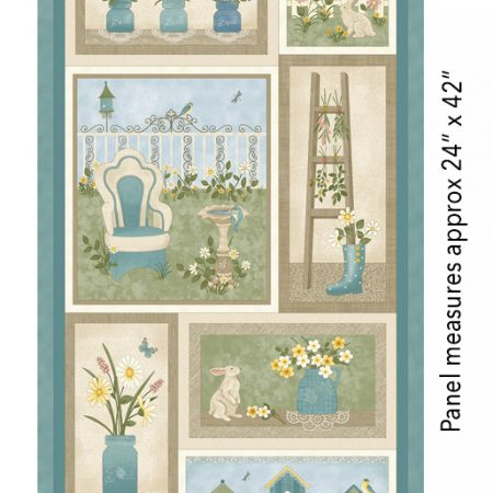 Quiltstof katoen My Secret Garden. Panel. Merk: Benartex