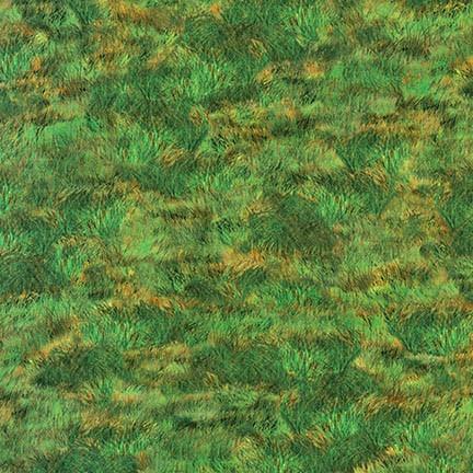 Quiltstof. Katoen. Robert Kaufmann. Serie: Inner Faith. Onderwerp: Gras