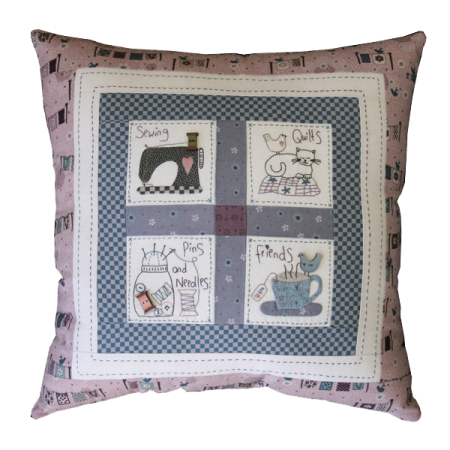 Patroon voor een kussen. Lynette Anderson Designs. Sewing Friends