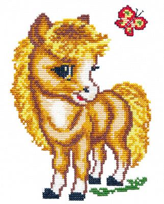 Borduurpakket voor beginner. Chudo Igla. Onderwerp: Lief paardje.