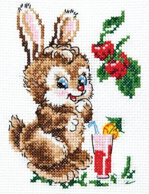 Borduurpakket voor beginner. Merk: Chudo Igla. Onderwerp: konijntje.