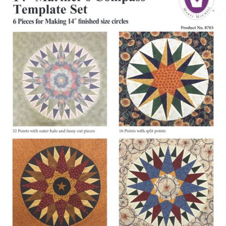 Template set Marti Michell. Template set Mariner's Compass 14 inch. 8703
