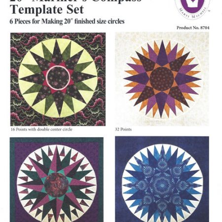 Template set Marti Michell. Template set Mariner's Compass 20 inch. 8704