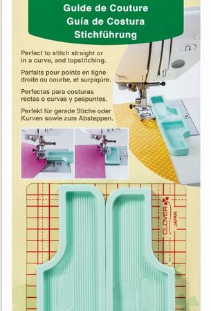 Clover 7708 Stitch Guide. Stekengeleider voor rechte naden en bochten.