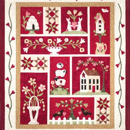 Quiltpatroon. The Quilt Company. From the Heart. Uit het Hart