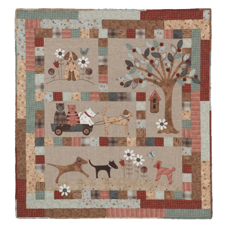 Quiltpatroon. Lynette Anderson Designs. A Dog's Life.