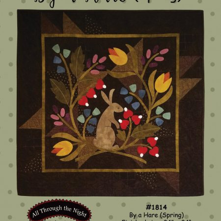 Quiltpatroon. All Through the Night. Quiltpatroon. By a Hare. Spring. Lente.