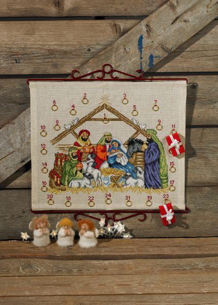 Aida Weihnachtskalender.Permin Kerst Adventskalender Aida 34 8281