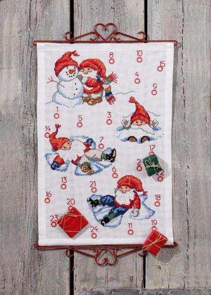 Aida Weihnachtskalender.Permin Kerst Adventskalender Aida 34 7643