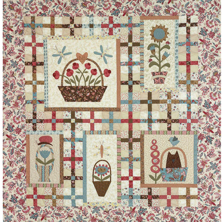 Quiltpatroon. Merk: The Birdhouse. Onderwerp: Baskets & Critters.