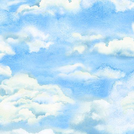 Quiltstof. 100% katoen. Merk: Timeless Treasures. Beach.Cloud. Wolken.