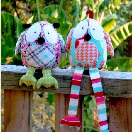 Naaipatroon Melly & Me. Hooty & Tweet. Twee dikke vriendjes.