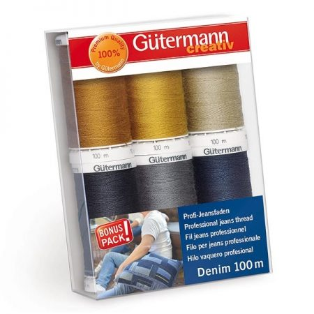 Gutermann naaimachinegaren assortiment Denim / Jeans naaigaren.