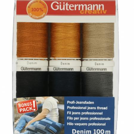 Gutermann naaimachinegaren assortiment Denim / Jeans naaigaren.