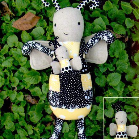 Melly & Me naaipatroon M029. Buzby & Baby Bee. Lieve bij en haar baby
